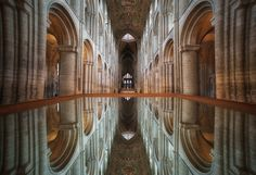 The Ceiling Mirror at Ely Cathedral.  SonyA7Rii, Samyang 12mm Fish Eye, ISO 3200, hand-held (due to the angle shooting across the mirror) F8. www.davidstoddartphotography.co.uk
