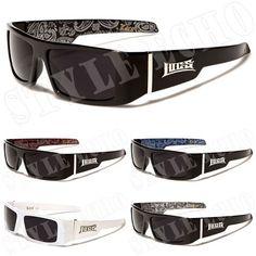 ebe0e90d31 LOCS Rectangular Gangster Black Shades Mens Designer Sunglasses New Dark  Lens Gafas De Sol, Locs