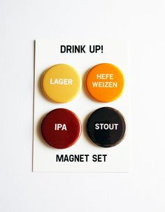 BEER GIFT: Beer Magnet Set by WORD for WORD