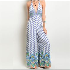 Gorgeous Summer Jumpsuit Incredibly gorgeous and comfy summer jumpsuit. Brand new with tags! Limited number.    3 sizes available. Comment below  for questions.                                                              Things to know about my closet:                                  I do not trade                                                        I do not accept transactions outside PM               I do not do refunds . Dresses Maxi