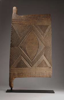 Africa   Granary door from the Igbo people of Nigeria   Wood, dull to middle brown patina