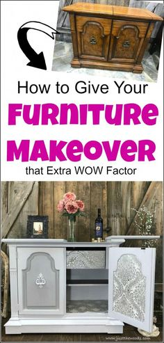 Give your furniture makeover that extra wow factor with wallpaper decoupage. Give your furniture makeover that extra wow factor with wallpaper decoupage. Learn how to make your painted furniture makeovers stand out by adding wallpaper to furniture. 70s Furniture, Diy Furniture Projects, Refurbished Furniture, Design Furniture, Paint Furniture, Repurposed Furniture, Furniture Making, Furniture Makeover, Wood Projects