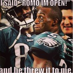 Romo I'm open! Fly Eagles fly - Funny Sports - - Romo I'm open! Fly Eagles fly The post Romo I'm open! Fly Eagles fly appeared first on Gag Dad. Nfl Jokes, Funny Football Memes, Funny Nfl, Cowboys Memes, Funny Sports Memes, Sports Humor, Football Humor, Hilarious, Funny Memes