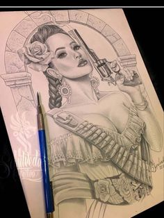 Chicano Art Tattoos, Chicano Drawings, Gangster Tattoos, Airbrush Skull, Arte Lowrider, Mexican Tattoo, Gangster Girl, Rose Girl, Arte Horror
