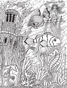 """.....""""Humming Belles"""".....: New! Undersea Illustrations and Coloring Pages"""