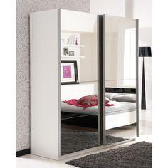 Armoire 2 portes coulissantes miroirs L170xP60xH203 cm AURORE