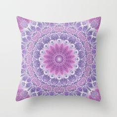 Purple and Pink Mandala Throw Pillow
