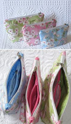 2 in 1 Zippered Pouches - Geta's Quilting Studio