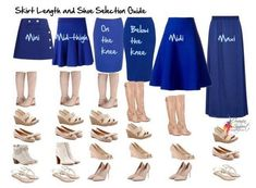 Your Essential Skirt Length and Shoe Selection Guide - Inside Out Style I used to wear these with pencil skirts every day student teaching. Mode Outfits, Casual Outfits, Fashion Outfits, Womens Fashion, Fashion Tips, Fashion Trends, Modest Fashion, Modest Clothing, Dress Fashion
