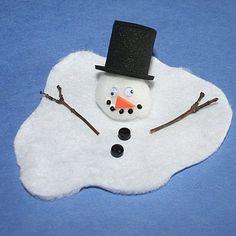 Gesmolten sneeuwman