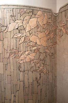 central part mosaic composition radiused walls. Interior - Sergei Karlov