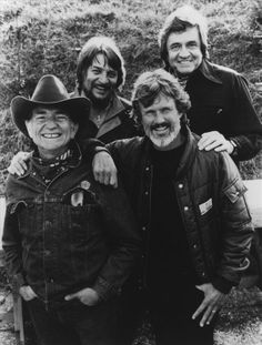 Willie Nelson, Waylon Jennings, Kris Kristofferson and Johnny Cash