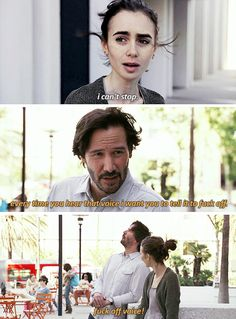 I tell my client who has dementia and hears voices this every time she hears them. Movies Showing, Movies And Tv Shows, Film Quotes, Romance Quotes, Mood Quotes, Quotes Quotes, Qoutes, To The Bone Movie, Keanu Reeves Quotes