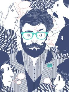 #beard #illustration #hipster