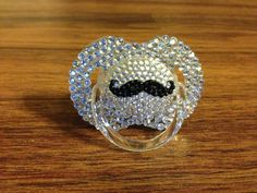 Bling pacifier by MiaBellaGemBoutique on Etsy, $25.00