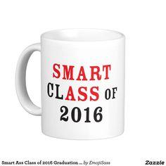 Smart Ass Class of 2016 Graduation Smug Emoji Mug