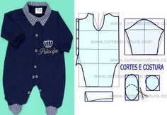Male baby overalls with the step by step of the mold Baby Outfits, Toddler Outfits, Kids Outfits, Baby Dress Patterns, Baby Clothes Patterns, Clothing Patterns, Sewing For Kids, Baby Sewing, Galaxy T Shirt