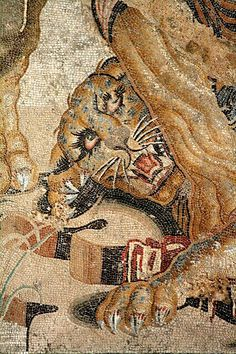 Detail of a mosaic from the House of the Faun.