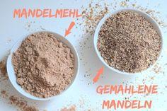 Der Unterschied zwischen gemahlenen Mandeln und Mandelmehl