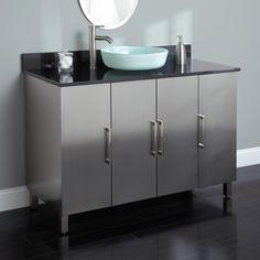 """48"""" Mercutio Stainless Steel Vessel Sink Vanity - Bathroom Vanities - Bathroom"""
