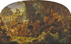 """""""The Fairy Raid: Carrying Off a Changeling - Midsummer Eve"""" by Sir Joseph Noel Paton (Scottish 1821-1901)"""