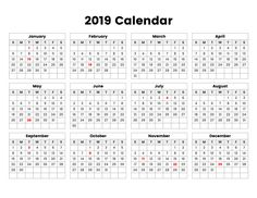 2019 calendar printable with notes free monthly printable calendar