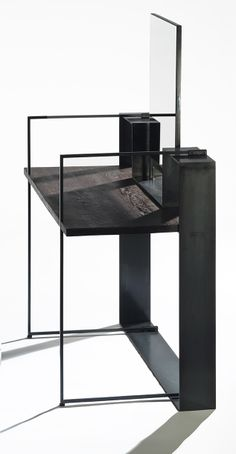 meuble de métal et bois design Martine Brisson