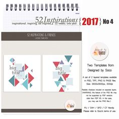 This week's 52 Inspirations comes from the amazingly talented Soco, of Designed by Soco.  Her clean, elegant and minimalist designs and templates are so easy to work with, you'll be scrapping beautiful pages in less time than you ever thought possible.