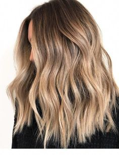 Brown Hair With Highlights And Lowlights, Brown Hair Balayage, Hair Color Balayage, Brown Hair Dyed Blonde, Dark Blonde, Sand Blonde Hair, Caramel Balayage Highlights, Blonde Pink, Cool Brown Hair