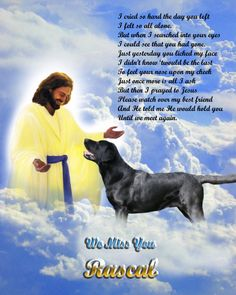 Black Labrador Retriever Dog Memorial with Poem by HeavenlyImages1, $19.95