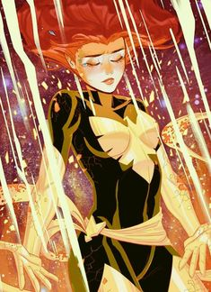 """""""We come into this world alone, and we leave the same way, the time we spend in between. is all that makes life worth living.""""― Jean Grey (Art credits: Honey and Abysinthe) Marvel Comic Universe, Comics Universe, Marvel Art, Marvel Dc Comics, Marvel Heroes, Ms Marvel, Captain Marvel, Comic Book Characters, Marvel Characters"""