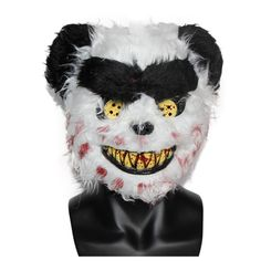 X-MERRY TOY White Scary Teddy Bear Mask Bloody Funny Halloween Mask Deluxe Animal Mask Adult x10037 Funny Halloween Masks, Halloween Face Makeup, Scary Teddy Bear, Creepy Toys, Bear Mask, Animal Masks, Festival Party, Party Supplies, Merry