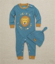 Hatley The Lion Sleeps Infant Coverall with Knot Cap