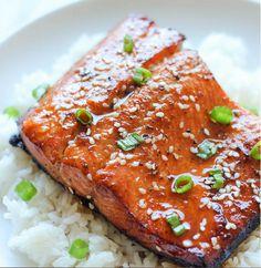 Sesame Ginger Salmon  http://damndelicious.net/2013/11/13/sesame-ginger-salmon/