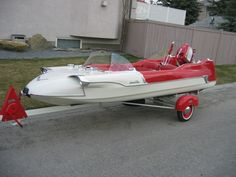 So it's not a van, but how friggin awesome is this Lone Star Meteor boat from the fifties?!