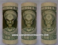 Grey/Reptilian Face Deciphered On The Back of the U.S. Dollar Bill! EXCLUSIVE! | Space