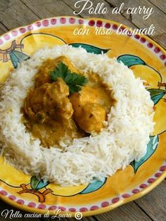 curry chicken with basmati rice - in laura's kitchen Light Recipes, Wine Recipes, Indian Food Recipes, Asian Recipes, Cooking Recipes, Healthy Recipes, Ethnic Recipes, Pollo Masala, Oriental
