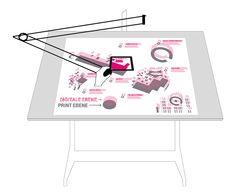 q-bus Mediatektur - Zeichentisch