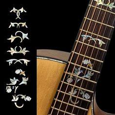 Fretboard Markers Inlay Sticker Decals for Guitar  Winding Vine wBird * Details can be found by clicking on the image.Note:It is affiliate link to Amazon.