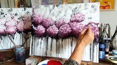 Hogyan festhetünk akrillal absztrakt  Hortenziákat? Magyar!
