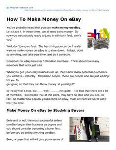 how-to makemoney on ebay by slogreira via Slideshare