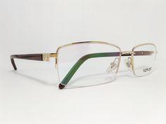 Óculos Grande Armação Metal Masculino Tamanho 58 Dourado