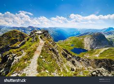 Landscape From The Rocky Fagaras Mountains In Romania In The Summer Стоковые фотографии 81284146 : Shutterstock Places Around The World, Around The Worlds, Visit Romania, Beautiful Places To Visit, Amen, The Incredibles, Earth, Stock Photos, Mountains