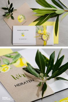 Voll im Trend: Einladungskarten und RSVP im sommerlichen Zitronen Look. Kombiniert eure Papeterie mit vielen grünen Blättern, um den mediterranen Look zu perfektionieren. Design 'Amalfi'.      #sommerhochzeit #einladungskarten #hochzeitseinladungen #hochzeit #papeterie #hochzeitsinspiration #kartenmacherei Spa Logo, Lemon Party, Bridal Shower, Baby Shower, Dream Wedding, Wedding Dreams, Nail Spa, Color Of The Year, Logo Design