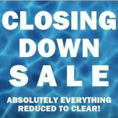 TODAY is our very LAST DAY for in store trading! We're open from 10am and closing the doors at 5pm for good  Last chance to pop into the store  and pick up a bargain before we are online only! Absolutely everything is reduced to clear!!!
