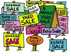 Rummage Sale Fundraiser Ideas - Tips on doing a fundraising rummage sale. Rummage (or yard, or garage!) sales are great ways to clean out team members' basements AND raise money for your Buddy Walk team! Yard Sale Signs, Garage Sale Signs, For Sale Sign, Church Fundraisers, Fundraising Events, Fundraising Ideas, Fundraiser Event, Rummage Sale, Craft Sale