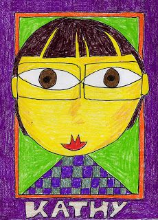 Art Projects for Kids: Back To School Portraits