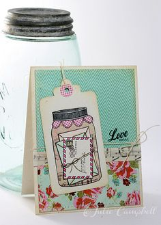Mason Jar Love card by @Julie Campbell