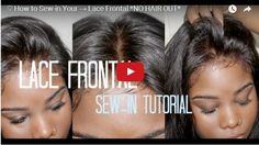 How to Install a Frontal Closure with no hair out