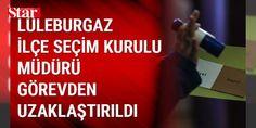 Lüleburgaz ilçe Seçim Kurulu Müdürü görevden uzaklaştırıldı: Kırklareli'nin Lüleburgaz ilçe Seçim Kurulu Müdürü Y.T., hakkında Yüksek Seçim Kuruluna (YSK) yapılan şikayet üzerine geçici olarak görevden uzaklaştırıldı.